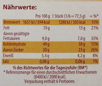 Hot Chocolate Brownie - Nutrition facts