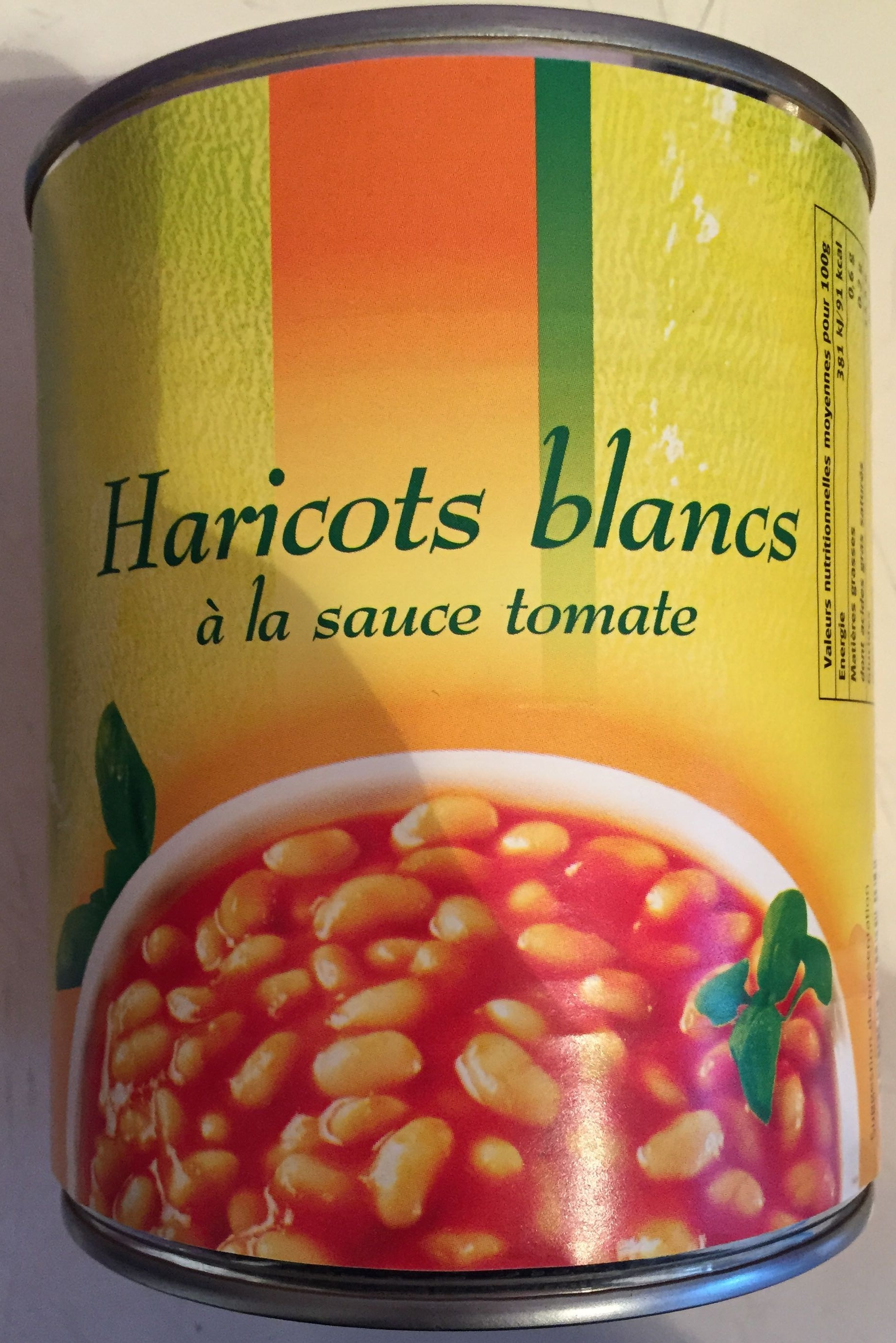 Haricots blancs à la sauce tomate - Produit - fr