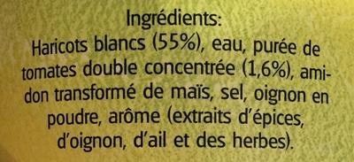 Haricots blancs à la sauce tomate - Ingrédients - fr