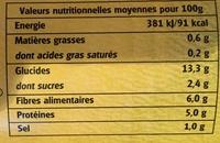 Haricots blancs à la sauce tomate - Informations nutritionnelles - fr