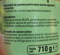 Compote pomme & poire - Ingrédients - fr