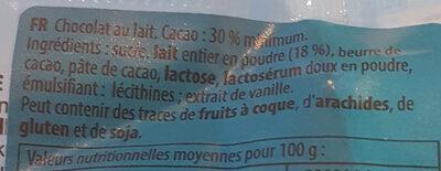 Milk chocolate - Ingredienti - de
