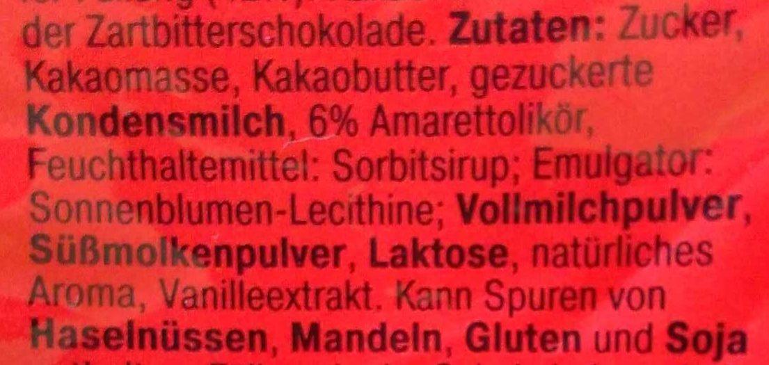 Amaretto Eier - Ingredients