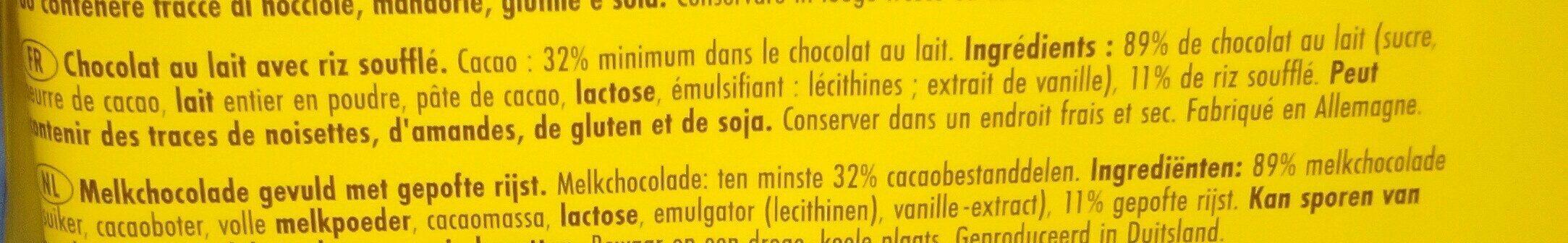 Sun Rice Classic Schoko-happen 300G - Ingredients - fr