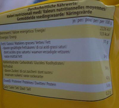 Crunchy happen - Nutrition facts - fr