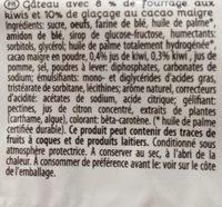 Kiwi Cake - Ingrédients - fr