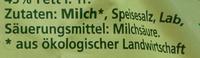 Bio-Mozzarella - Ingredients - de