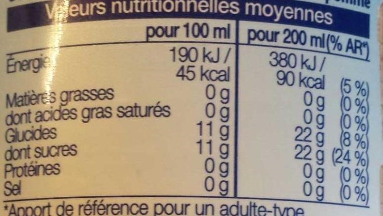 Cranberry Myrtilles - Nutrition facts