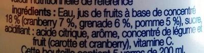 Cranberry Grenade - Ingrédients