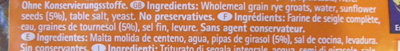 Sonnenblumen Brot - Ingredients - fr