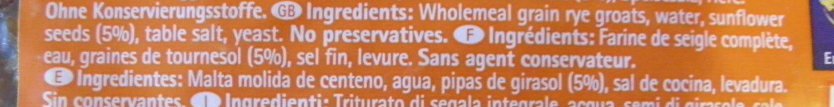 Sonnenblumen Brot - Ingrédients - fr