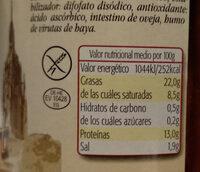 Eidmann salchicha original - Informació nutricional - es