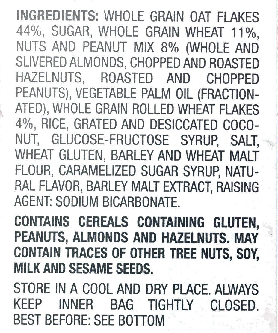 Vitalisimo Multicereal Almendras - Ingredients