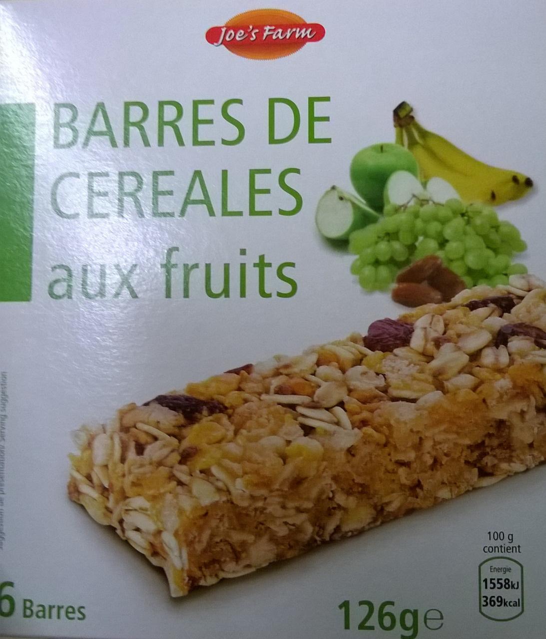 Barres de céréales aux fruits - Produit - fr