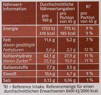 Gourmet Müsli Schoko - Nutrition facts
