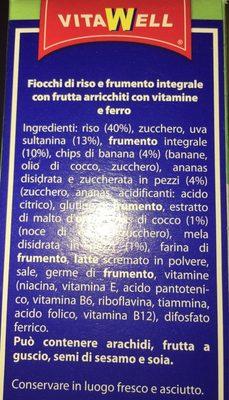 Cornflakes vitawell - Ingredients - fr