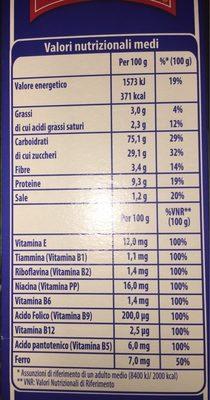Cornflakes vitawell - Voedingswaarden - fr