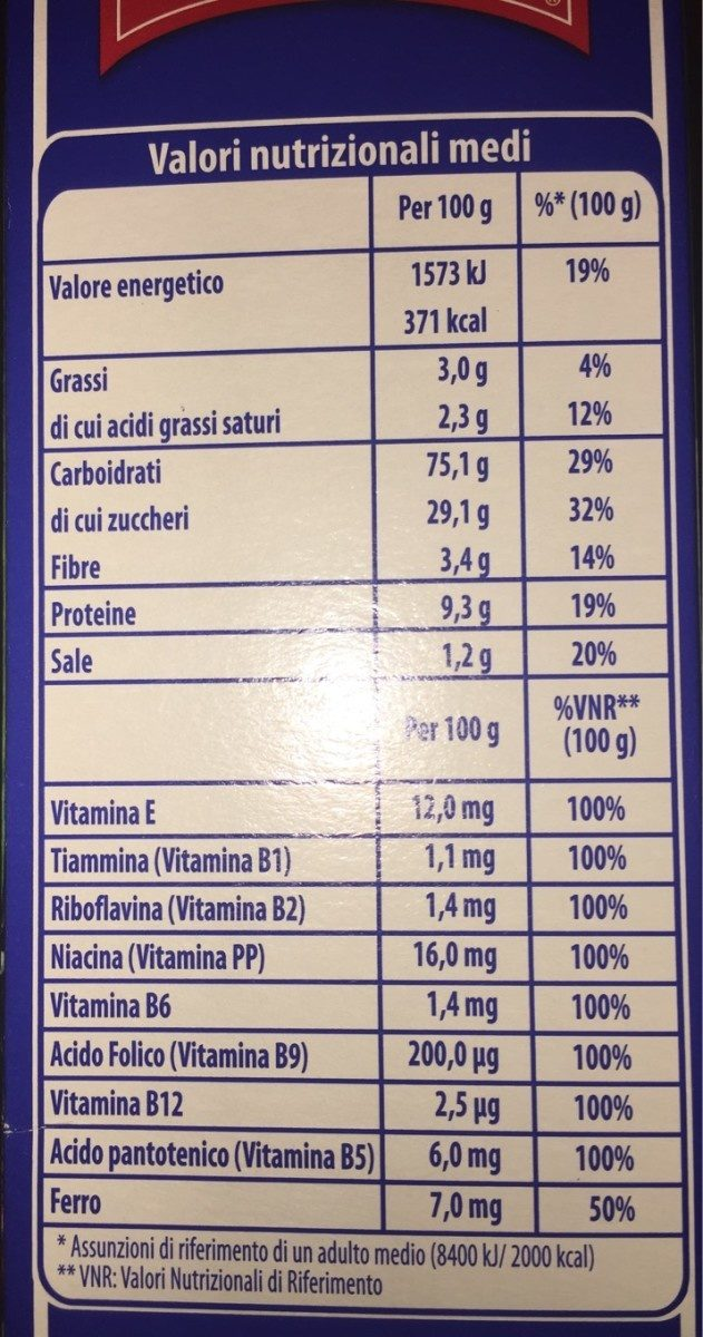 Cornflakes vitawell - Nutrition facts - fr