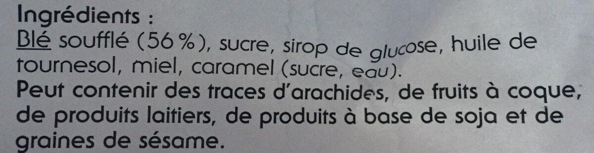 Blé  souffle et sucré - Ingredients