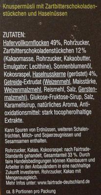 Crunchy Muesli - Ingredients