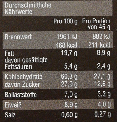 Crunchy Muesli - Nutrition facts