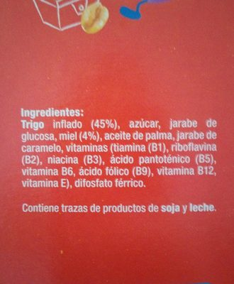 Trigo con miel - Ingredients