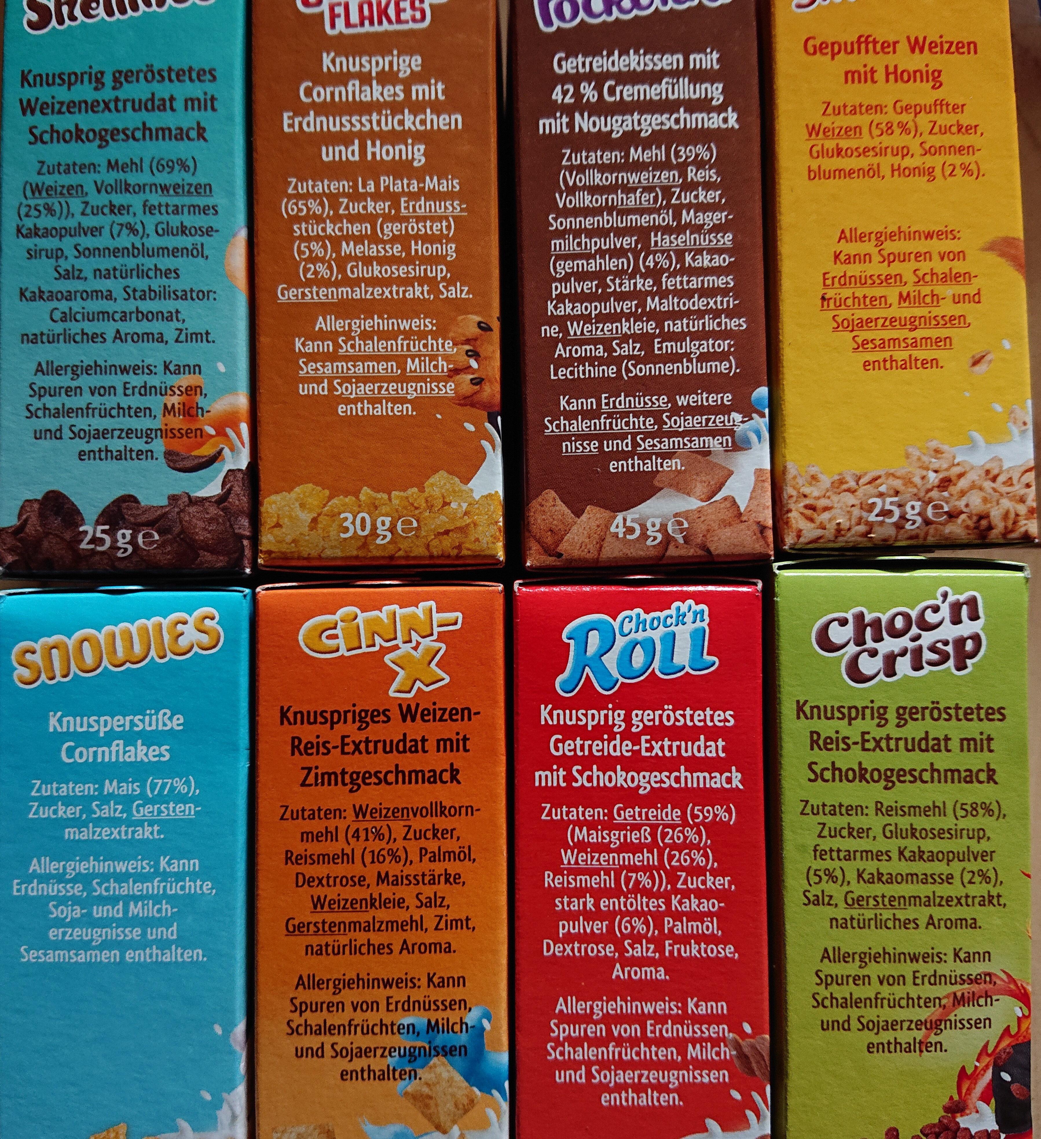 Brüggen 8 Minipacks - Ingredients - de