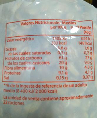 Muesli con frutas - Informació nutricional