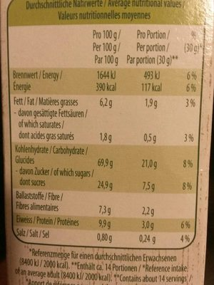 Bio HaferPops Schoko - Nutrition facts