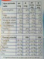 Copos de avena - Nutrition facts