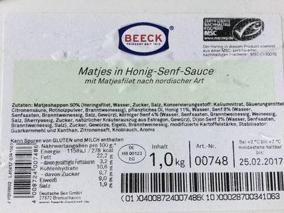 Matjes in Honig-Senf-Sauce - Produkt