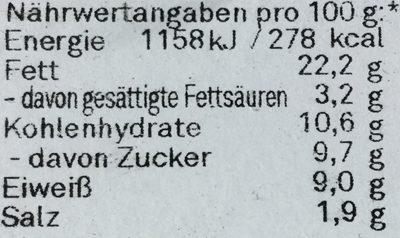 Matjes in Honig-Senf-Sauce - Nährwertangaben