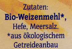 Bio Semmelbrösel - Ingrediënten