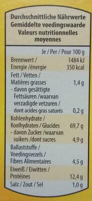 Paniermehl (Paneermeel) - Nutrition facts - en