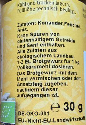 Brotgewürz - 2