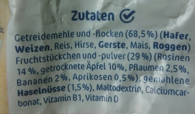 Kindermüsli - Ingredients - de