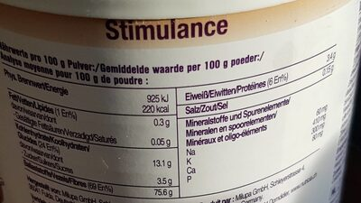 Stimulance - Nutrition facts - fr