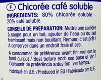 Chicorée café - Voedingswaarden - fr