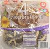 Sinnack 4 Kaiserbrötchen mit Mohn - Produit