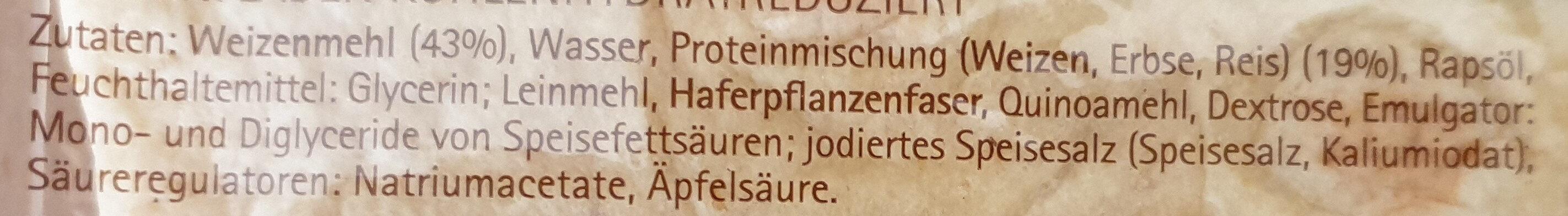 Eiweiß - Tortilla (40g=1Tortilla) - Zutaten - de
