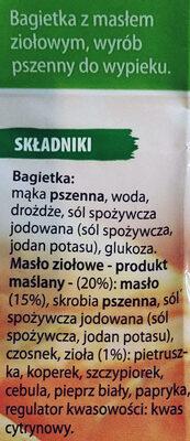 Kräutet Baguette - Składniki - pl
