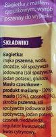 Bagietka z masłem czosnkowym - Składniki