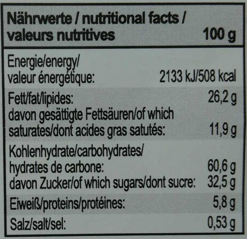 Hafer Cookies - Informations nutritionnelles - fr