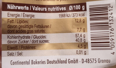 Lebkuchenherzen - Nutrition facts