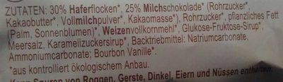 Schoko-Hafertaler - Ingredients