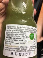 Nectar de pomme kiwi bio - Voedingswaarden - fr