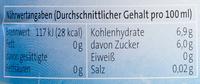 Schorle Apfel - Nutrition facts