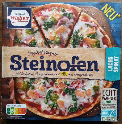 Steinofen Pizza Lachs Spinat - Product - de