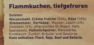 herzhafter Flammkuchen Käse & Lauch - Ingredients