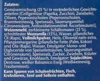 Steinofen Pizza Vegetaria - Inhaltsstoffe
